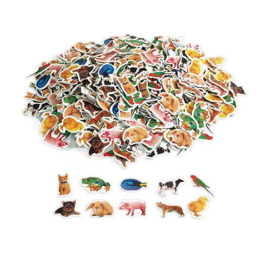 Colorations Real Photo Animal Foam Stickers - 500 Pieces