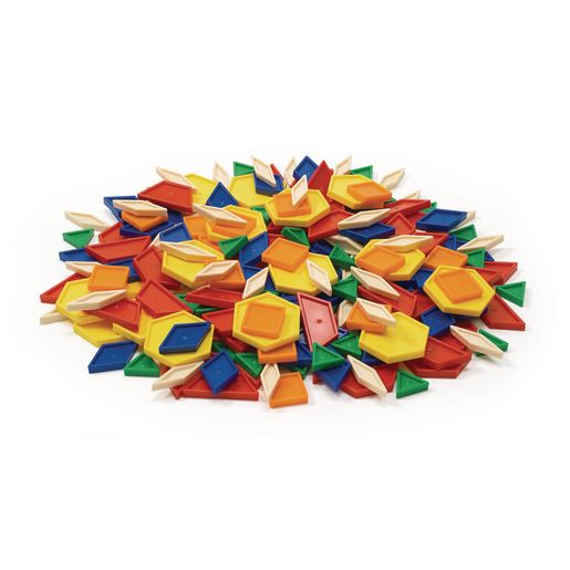 Image of Excellerations Plastic Pattern Blocks - 250 Pieces
