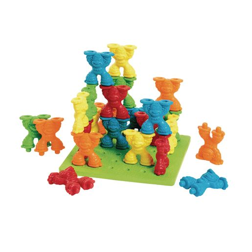 Mighty Monkey® Stacking Pegs & Board - 26 Pieces
