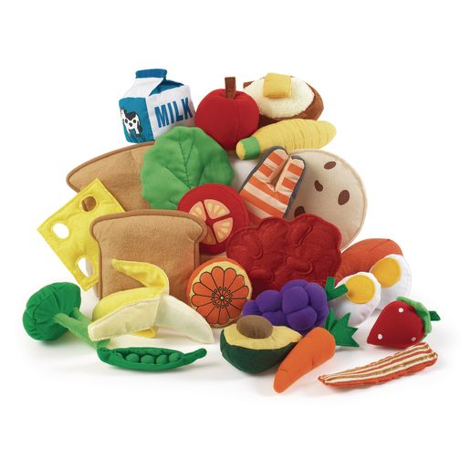 Excellerations® Yummy Plush Pretend Play Food - 25 Pieces