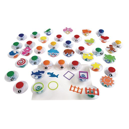 Image of Colorations Easy Grip Stampers Mega Pack - 40 Pieces