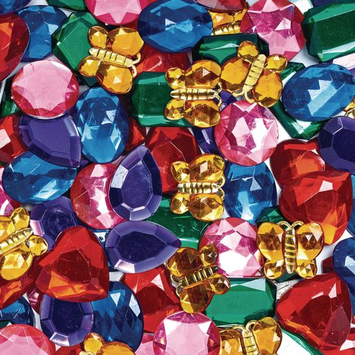 Image of Colorations Giant Glittering Rhinestones - 1 lb.