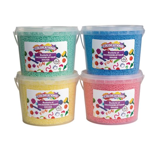 Colorations® IncredibleFoam® Dough Buckets - Set of 4