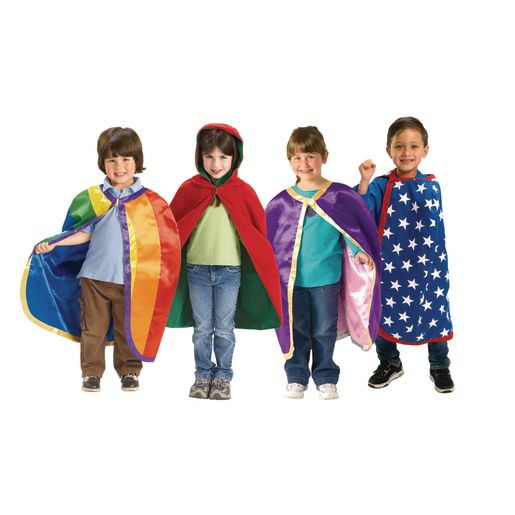 Image of Excellerations Reversible Fabric Capes - Set of 4