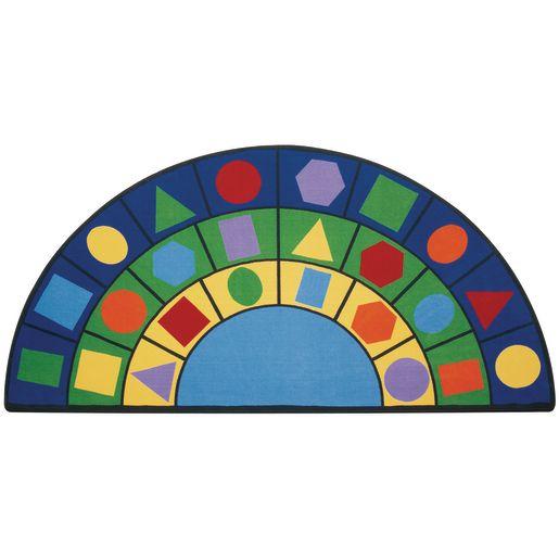Image of Geometric Shapes Carpet - 6' x 12' Semi Circle