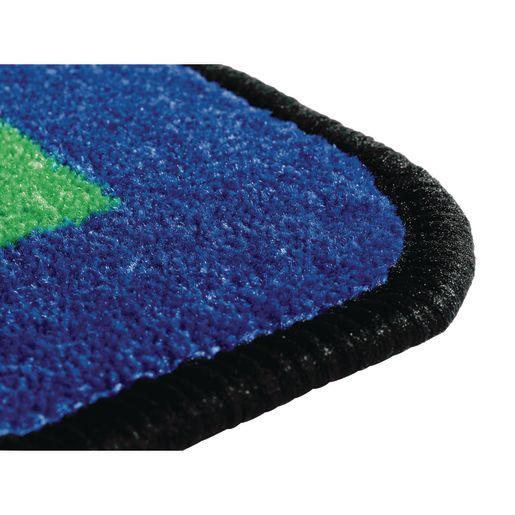 Geometric Shapes Carpet - 6' x 12' Semi Circle