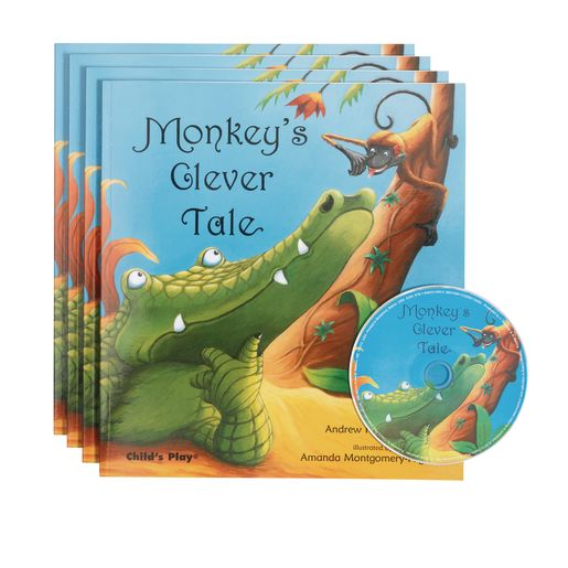 """Monkey's Clever Tale"" - 4 Paperback Books and 1 CD"