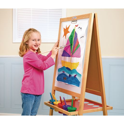 Colorations® Premium Free Standing Art Easel with Magnetic Dry Erase & Chalkboard