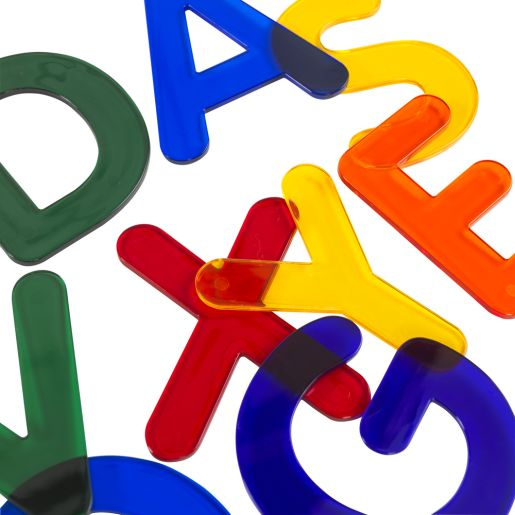 """3"""" Jumbo, Translucent Alphabet Letters for Light Table Play 26 Pieces"""
