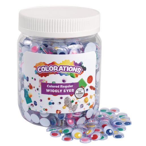 Colorations® Wiggly Eyes, Colored - 1,000 Pieces