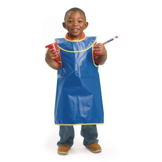 Image of Colorations Brawny Tough Machine Washable Sleeveless Child's Smock - Set of 6