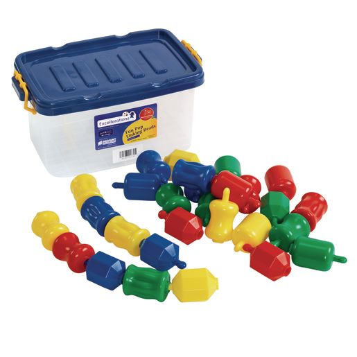 Excellerations® Fun Pop Linking Beads - 28 Pieces