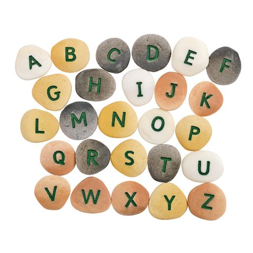 Image of Alphabet Letter Pebbles - Uppercase, Set of 26