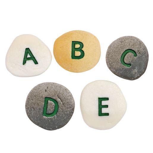 Alphabet Letter Pebbles - Uppercase, Set of 26