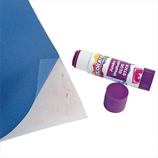 Colorations® Jumbo Washable Purple Glue Sticks, Set of 12, 1.41 oz each