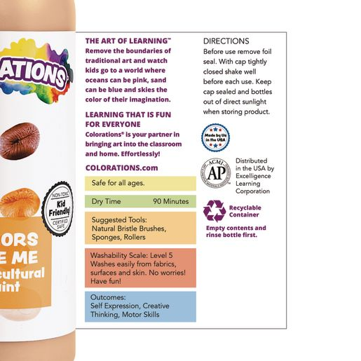 Colorations® Colors Like Me® Washable Multicultural Paint, 16 oz.