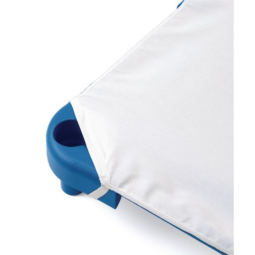 Standard Cot Sheets - White, Set of 6