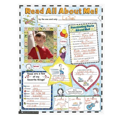 All About Me Posters - Set of 30