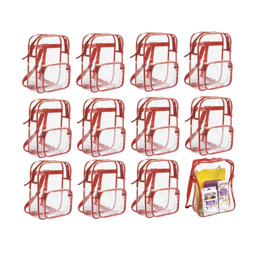 Premium Clear Student Back Pack - Set of 12