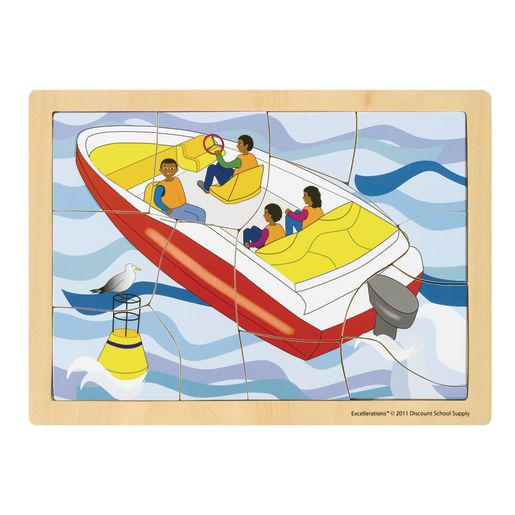 Excellerations® Transportation Puzzles - Set of 8