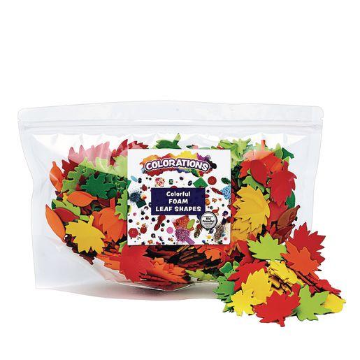 Colorations® Colorful Leaf Foam Shapes - 500 Pieces_1