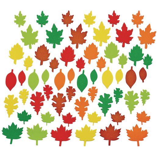 Colorations® Colorful Leaf Foam Shapes - 500 Pieces_2