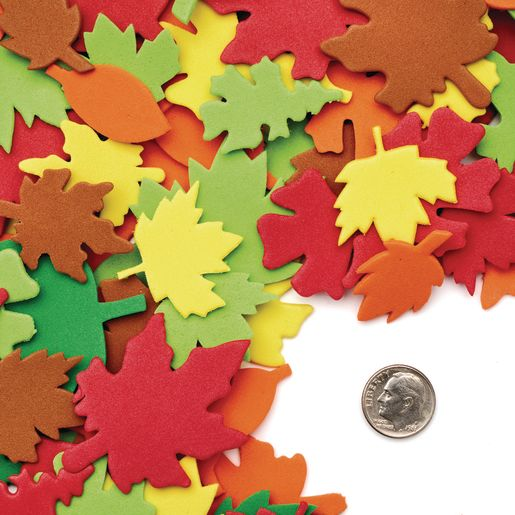 Colorations® Colorful Leaf Foam Shapes - 500 Pieces