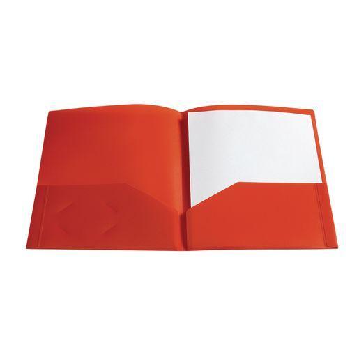 Plastic Pocket Folder, Red_1