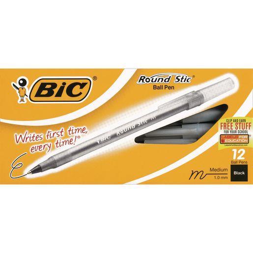 Bic® Round Stic® Pens - Black_0