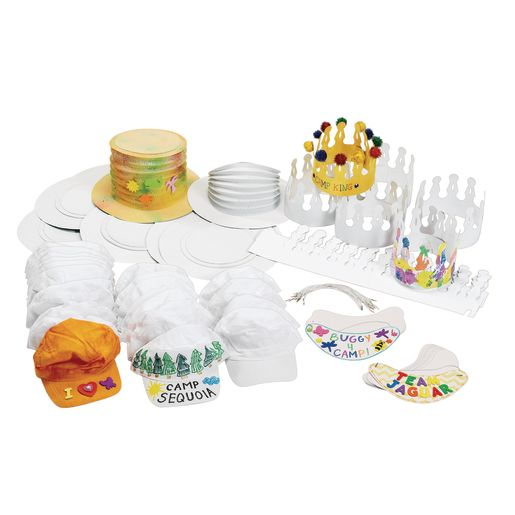 Hats & Visors Craft Pack - 96 Pieces