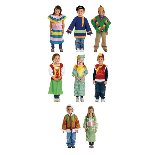 Image of Excellerations Multicultural Costumes - Set of 8