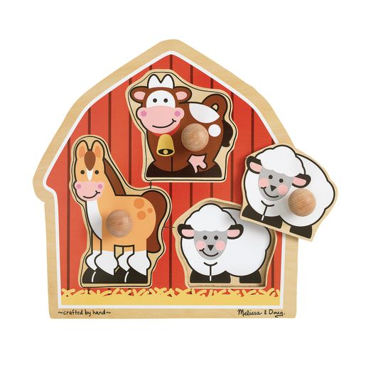 Image of Jumbo Knob Puzzle - Barnyard Animals