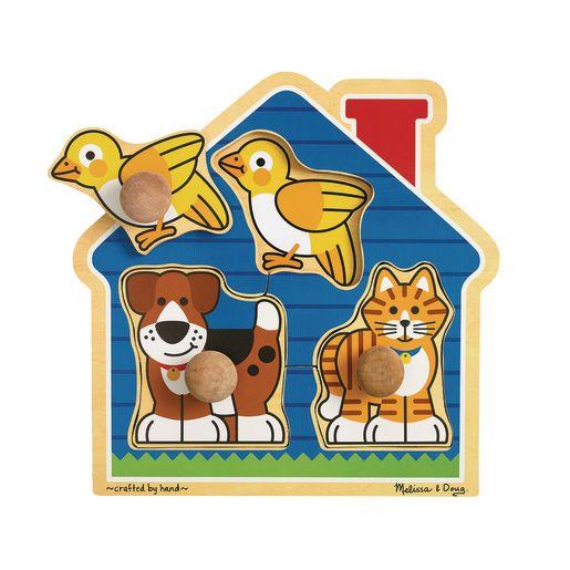 Image of Jumbo Knob Puzzle - House Pets