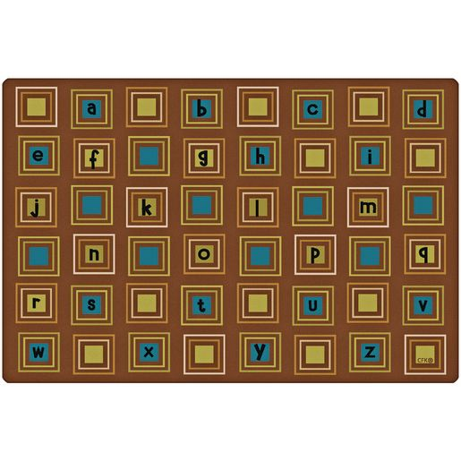 Image of Nature Literacy Squares 6' x 9' Rectangle Premium Carpet