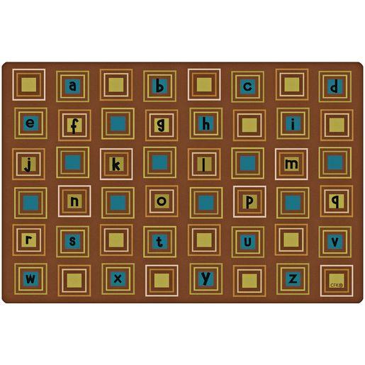 Image of Nature Literacy Squares 6' x 9' Rectangle Premium Carpet