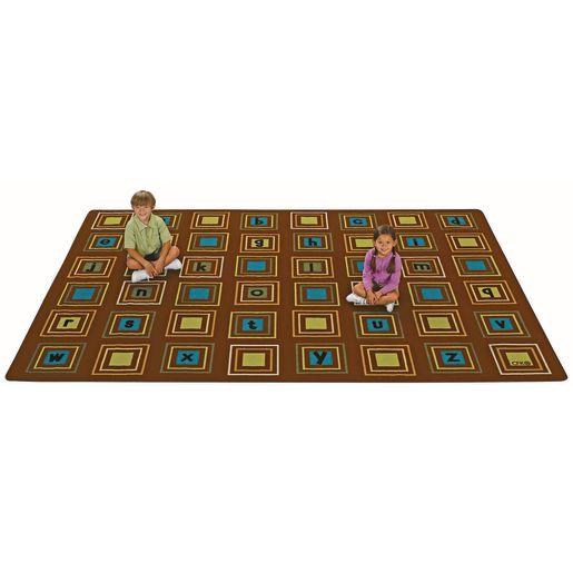 Nature Literacy Squares 6' x 9' Rectangle Premium Carpet