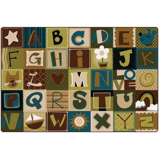 Toddler Alphabet Blocks - Nature Rectangle