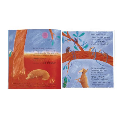 """Dingo Dog and the Billabong Storm"" - 4 Paperback Books and 1 CD"