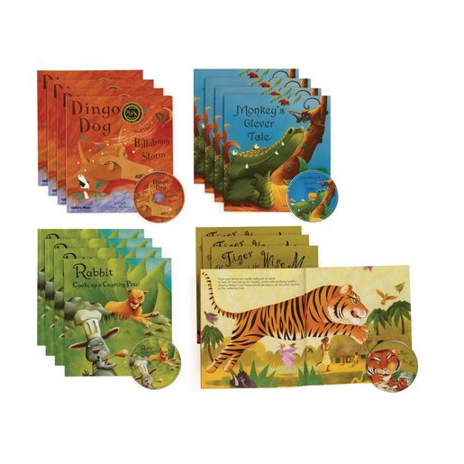 Read-Along Story Books Set 1 - 16 Books and 4 CDs