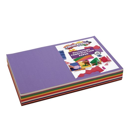 10 Assorted Colors 4 Pack 500 Sheets 9 x 12 Art Street Lightweight Construction Paper