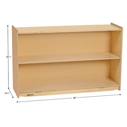 "MyPerfectClassroom® 48""W Straight Shelf Mobile Storage"