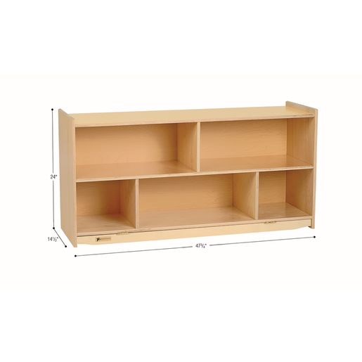 "MyPerfectClassroom® 24""H Divided Shelf Mobile Storage"