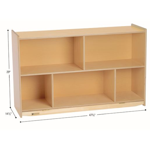 "MyPerfectClassroom® 29""H Divided Shelf Mobile Storage"