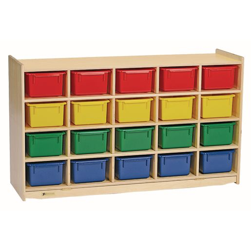 Image of MyPerfectClassroom 20-Cubbie Mobile Storage