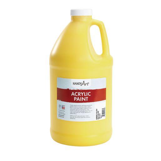 Acrylic Paint - 1/2 Gallon, Yellow