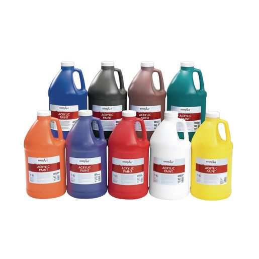 1/2 Gallon Acrylic Paint Set - 9 Bottles