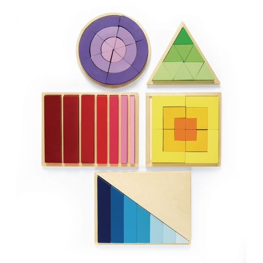 Excellerations® Wooden Attribute Puzzle Collection - Set of 5
