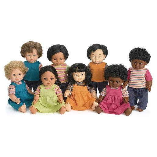 "16"" Multicultural Toddler Dolls"