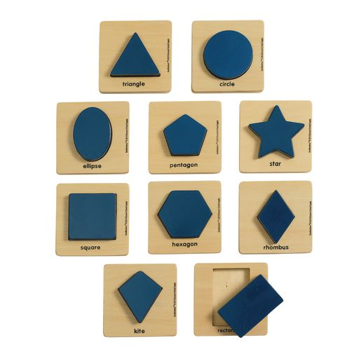 Image of Excellerations Wooden Shape Puzzles - Set of 10