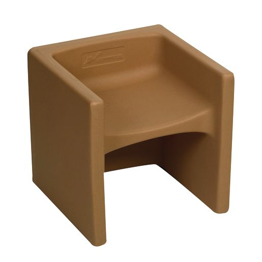 Image of Cozy Woodland Cube Chair - Almond